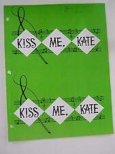 June 30 -1965 - Theater Program - Kiss Me Kate - Earl Wrightson - Lois Hunt