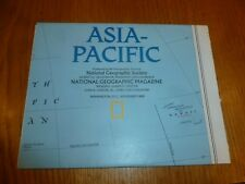 ASIA PACIFIC - National Gegraphic MAP - ATLAS PLATE ? - Nov 1989