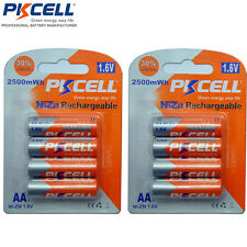 8pcs(2Cards) PKCELL 2A NiZN 1.6V 2500mWh  Ni-Zn AA Rechargeable Batteries