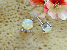 Ohrstecker Ohrringe Opal Triplette Damen Kinder 925 Sterling Silber  BC35a