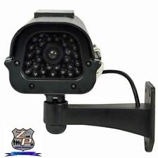 Dummy Fake Outdoor CCD Camera - Solar Power Flash LED & Ni-MH Batteries - Black