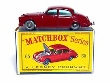 MATCHBOX Lesney No.65b JAGUAR BERLINA DA 3.8 LITRI in Scatola 'D' (SPW, in buonissima condizione, superbo BOX)