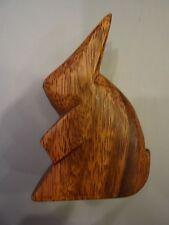 Vintage Hand Carved Wooden Good Luck Figural Rabbit Primitive
