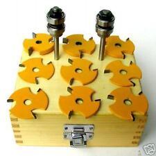 """11pc 1/4"""" Shank Slot, Tongue & Groove  Router Bit Set sct-888"""