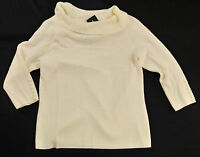 women's R.Q.T. sweater size PS ivory pull-over collar long sleeve MSRP $44