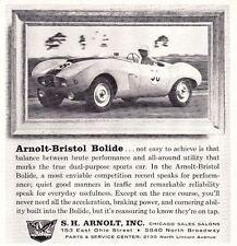 1957 ARNOLT-BRISTOL BOLIDE  ~  VINTAGE ORIGINAL S.H. ARNOLT SMALLER PRINT AD