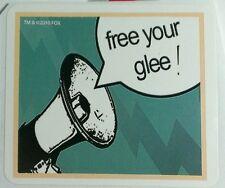 GLEE GLEEK MEGAPHONE FREE YOUR GLEE MUSIC 2010 FOX TV STICKER
