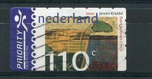 PAYS-BAS 2000, timbre 1788, tableau Krabbé, oblitéré
