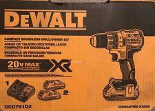 "NEW Dewalt DCD791D2 Li-Ion 20V Brushless 1/2"" Cordless Compact Drill Driver Kit"