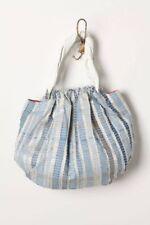 Anthropologie Tried & True Blue Tote Handbag Bag Blue Denim Patchwork Hobo