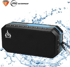 Bluetooth Wireless Speakers Portable Phone Computer PC Built-in Mic USB Blue New