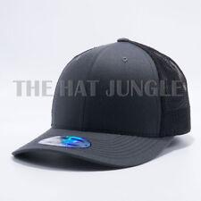 Plain Cambridge Trucker Snapback Hat Meshback Curved Bill Baseball Cap [GRAY]