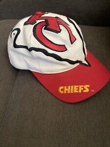 Vintage Kansas City Chiefs Snapback Hat- The Game Big Logo Arrowhead NFL Taiwan