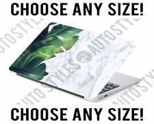White Marble Tropical Pam Leaf Laptop Skin Decal Sticker Tablet Skin Vinyl Cover