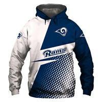 Los Angeles Rams Hoodie Hooded Pullover S-5XL Football Team Fans NEW Designs