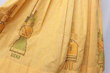 VINTAGE 15.2ms Amarillo Bordado Gingham a Cuadros Novedad PEOPLE Día Vestido