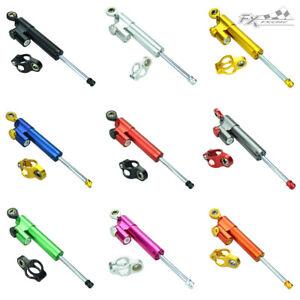 FXCNC Universal Motorcycle CNC Adjustable Steering Damper Stabilizer Aluminum