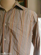Ted Baker Jean Mens Striped Dress Soft Colors Shirt Size 5