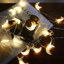 Moon Shape LED Fairy String Lights Holiday Garland Christmas Tree Home Decor