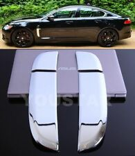 FAST EMS 4X CHROME SIDE WING Shark Vent Covers for Jaguar 08-11 Pre-LCI XF XFR