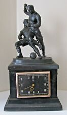 Footballers Vintage USSR Soviet Russia Kasli Cast-Iron Table Clock Molnia 1950s