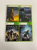Xbox 360 4 Game Lot Halo 3, ODST, Reach, Halo 4 All Complete CIB Free Shipping !