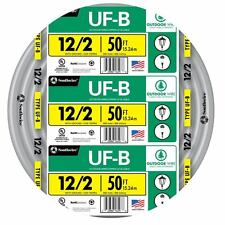 Southwire 12 Awg-2 UF Wire 50-ft Indoor Outdoor Electrical Cable Insulated New