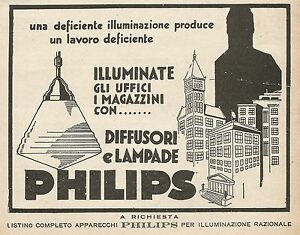 Z0642 Advertising Of 1930 - Advertising - Diffusers And Lamps Philips
