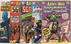Our Army at War #169, 173, 183, 184, 197  avg. VG/FN 5.0  Sgt. Rock  DC  1966