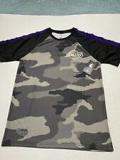Los Angeles Lakers Black Camo  T-Shirt -Size Small