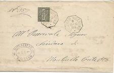 P6302   Vicenza, Bolzano Vicentino, annullo ottagonale 1886