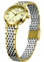 Rotary Ladies' Two-Tone Quartz Bracelet Watch Date Display