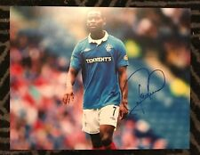 Glasgow Rangers Maurice Edu Autographed Signed 11x14 Photo COA #2