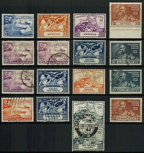 KGVI 1949 UNIVERSAL POSTAL UNION UPU OMNIBUS SELECTION OF STAMPS X 4 SETS USED
