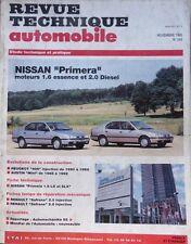 Revue technique NISSAN PRIMERA 1.6 essence + 2.0 diesel LX SLX RTA 545 1992