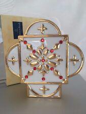 Villeroy & Boch - lumi di Natale - n. 1 candeliere porcellana e oro zecchino