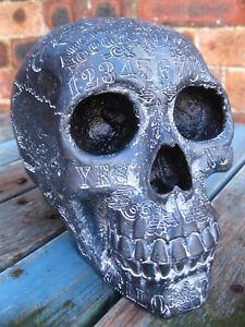 OUIJA SKULL HEAD FIGURE Ornament Dark Spirits GOTHIC ZODIAC HORROR OCCULT TAROT