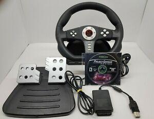 Pelican Cobra TT Universal PS2 Xbox Racing Wheel, Pedals & Project Gotham Racing
