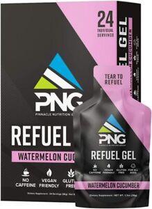 PNG Sports Refuel Energy Gel 24 Pack - Endurance, Electrolytes SELECT FLAVOR
