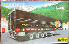 "SUPER NICE! HELLER 1:24 BOX Trailer ""International Transports"" NEW/FACT.SEALED!"