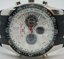 U.S Polo Assn. New Mens Quartz japan movement rubber strap watch
