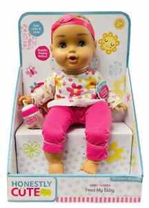 Honestly Cute Feed My Baby Doll 14 Inch Latina Baby Doll NEW