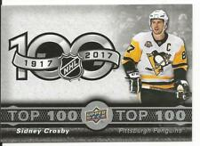 17-18 Sidney Crosby Tim Hortons Canada Top 100 Checklist Card #TOP-1 Mint