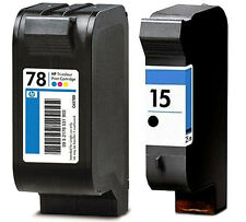 2 CARTUCHOS TINTA NEGRA C6615 HP15 COLOR C6578 HP78 COMPATIBLE DESKJET HP PSC750