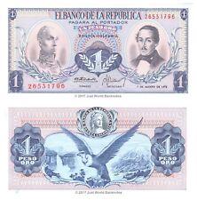 COLOMBIA 1 peso oro 1973 P-404e BANCONOTE UNC