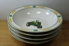 4 Gibson John Deere Licence Soup Bowls Nothing Runs Like A Deer Amber Wave MINT