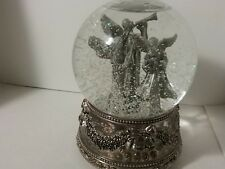 Wallace Silversmiths Christmas 2000 Musical Angel Snow Globe First Edition NoBox