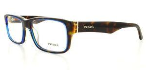 PRADA Designer Mens BROWN BLUE Glasses Spectacle Optical Frames PR16MV ZXH1O1