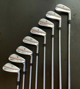 Nike Forged Victory Red TW Blade golf iron set 3-PW stiff Project X 6.0