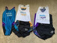 Team Tinley Triathlon Rare Retro Swimsuit Shorts Singlets Reebok Saucony